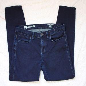 Madewell Skinny Skinny Ankle Jeans 27 Dark Wash